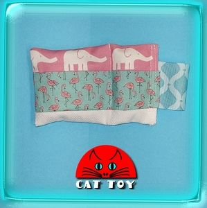😺 Unique handmade catnip cat toy elephant flaming